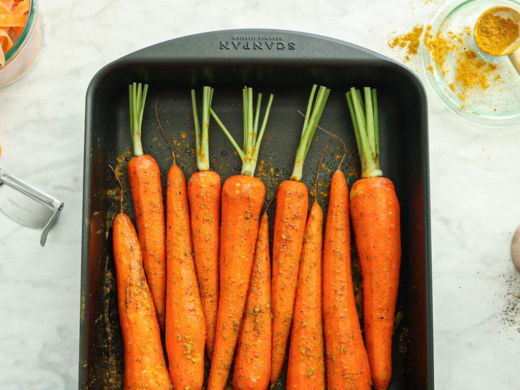 Recept voor het roosteren van wortels in de oven
